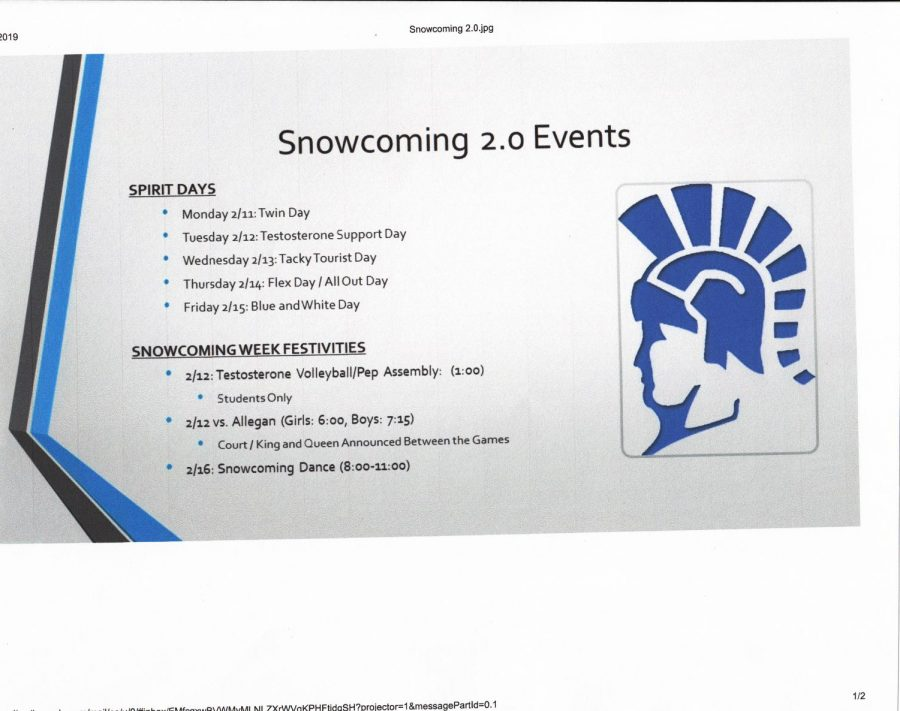 Snowcoming date changes.
