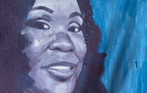 Painting of Breonna Taylor by Unknown, Located At The Pedestrian Mall In Downtown Kalamazoo, Mi