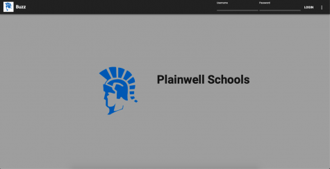 Plainwell Schools Buzz Login Screen.