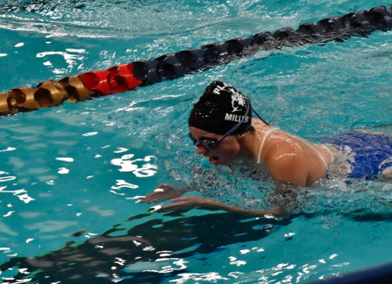 Lauren Miller, a sophomore with an inspiring daily schedule and impressive goals swimming